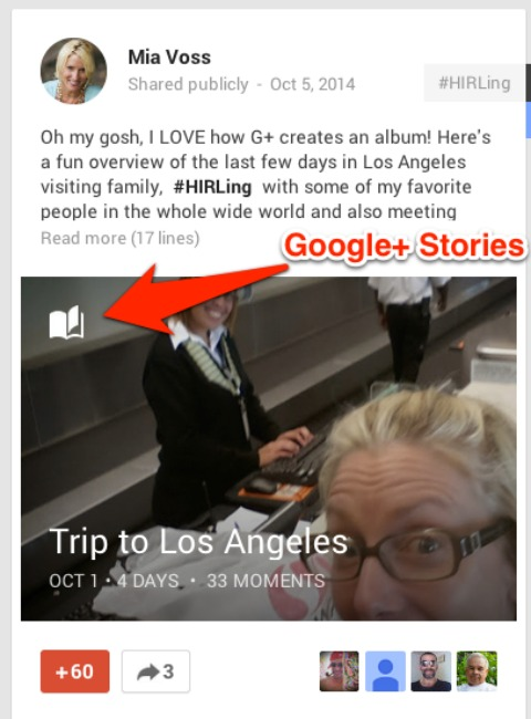 google stories post
