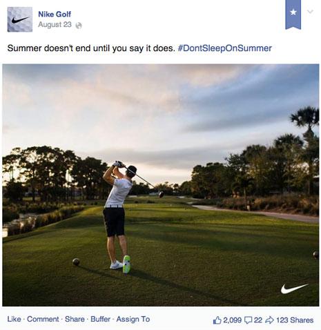 nike golf post