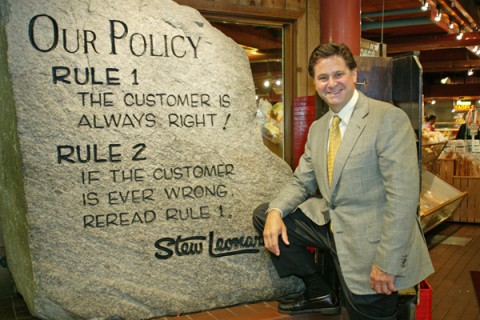 Stew Leonard's customer service rock of commitment. Image source: Stew Leonard's