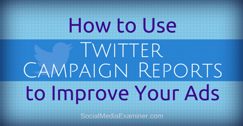 use twitter ads campaign reports