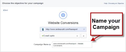 name a facebook campaign