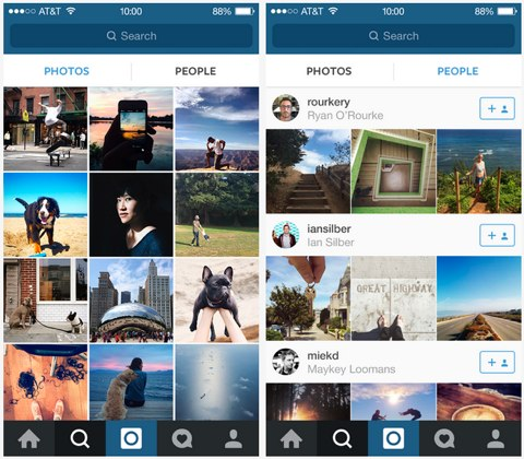 instagram new people tab