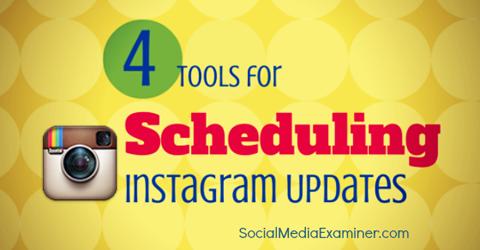 instagram scheduling tools