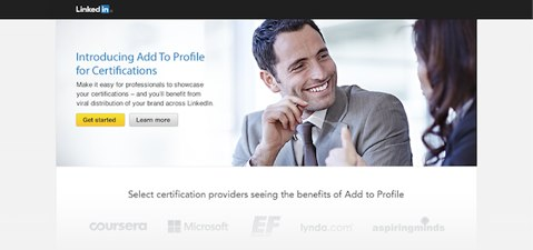 linkedin add to profile for certifications