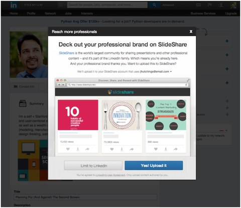 linkedin professional brand on slideshare