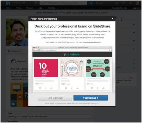 linkedin professional brand on slideshare