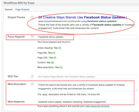 social seo plugin fields