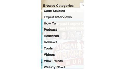 social media examiner categories 2014