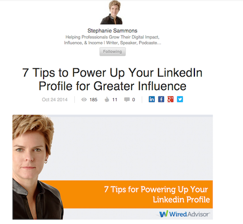 stephanie sammons linkedin post