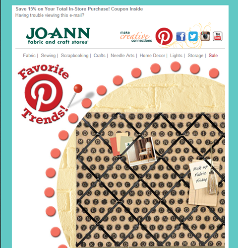 social links in joanne email