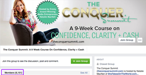 conquer summit facebook group header