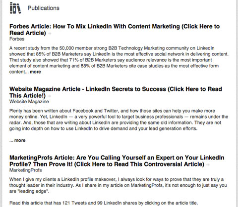 Linkedin Publications  Find Resumes On Linkedin