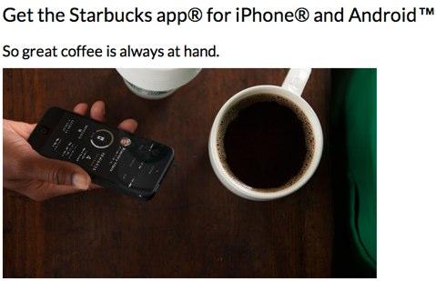 starbucks coffee app