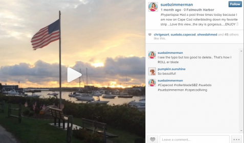 Hyperlapse video shot by Sue while rollerblading in Cape Cod.