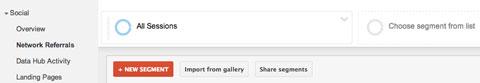 add a segment in google analytics report