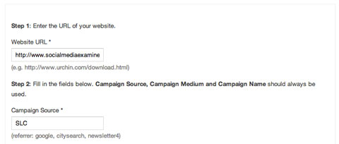 slc campaign marker in google url builder