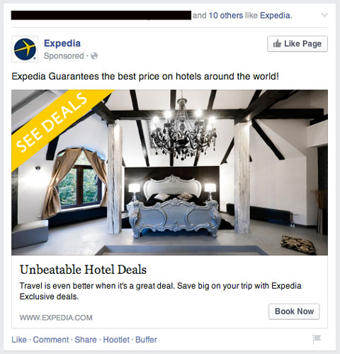 expedia facebook ad