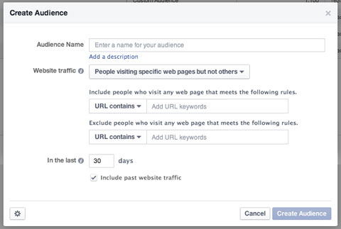 custom audience creation in facebook