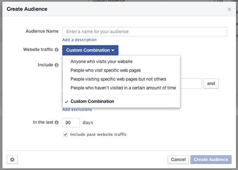 granular custom audience creation in facebook