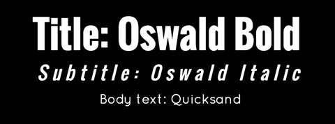 font combination