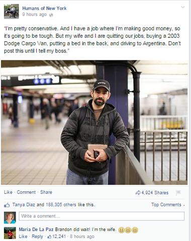 hony facebook post
