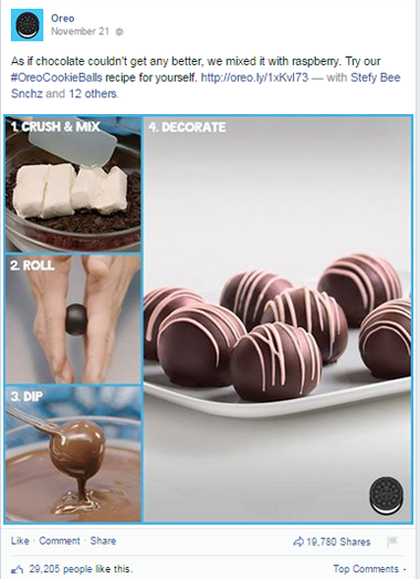 oreo recipe facebook post