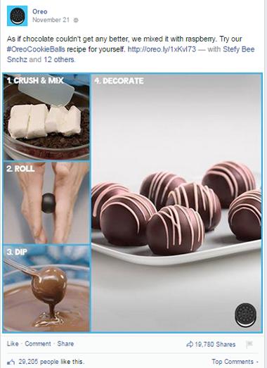 oreo recipe facebook post