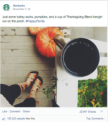 starbucks facebook post