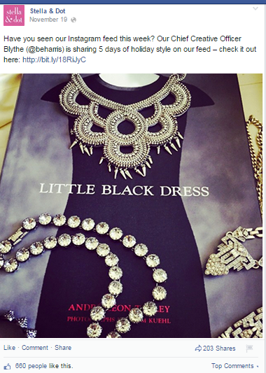 stella and dot facebook post