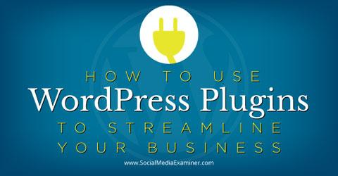 wordpress plugins to streamline business