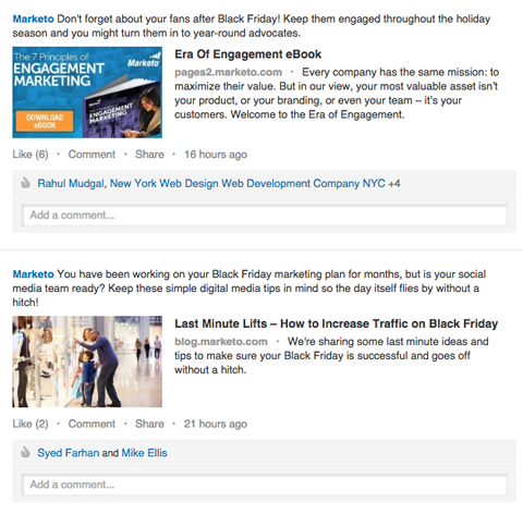marketo posts on linkedin
