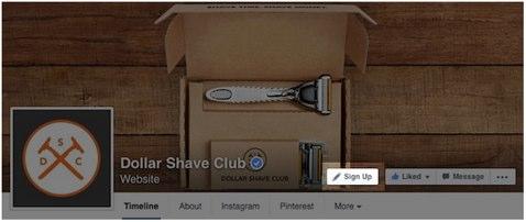 facebook sign up button