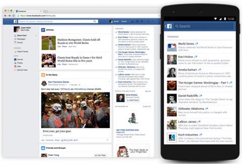 facebook trending update