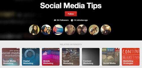 pinterest interest follower profiles