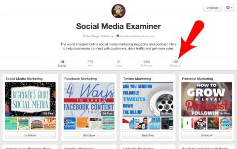 social media examiner following link on pinterest
