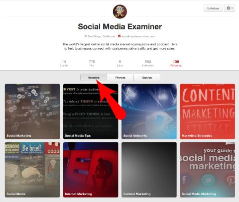 social media examiner interest link on pinterest