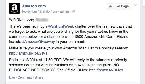amazon wishlist update
