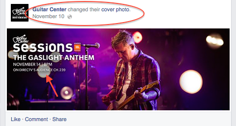 guitar center facebook cover image