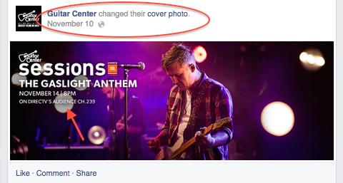 guitar center facebook cover image
