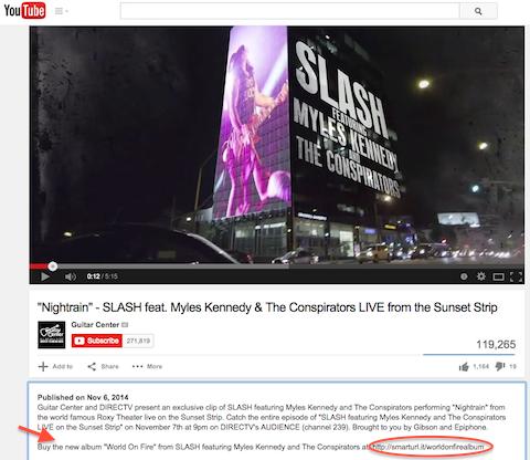 guitar world slash video post