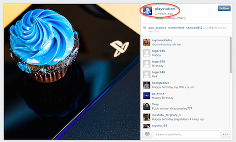 playstation instagram post