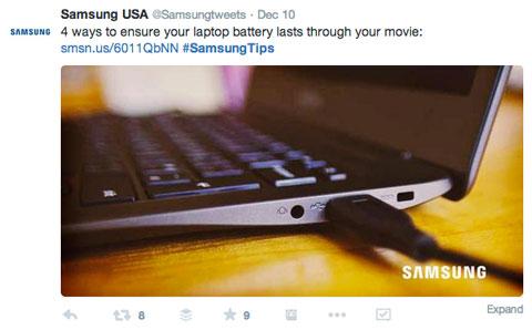 samsungtips hashtag tweet