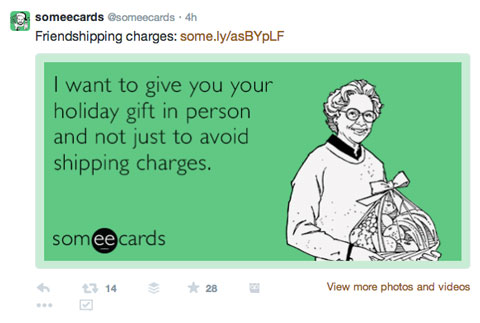 someecards branded url tweet