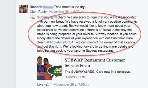 subway customer response