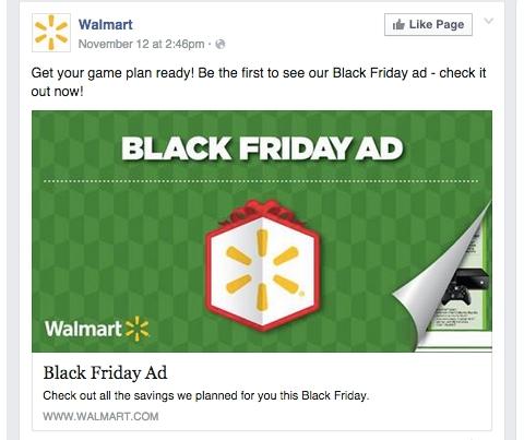 walmart facebook update
