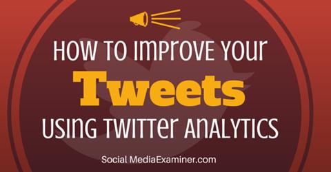 improve your tweet activity