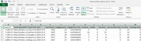 export of data