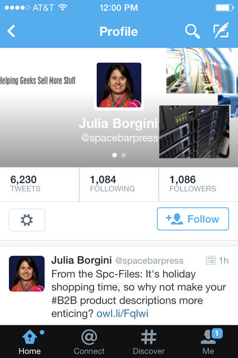 spacebarpress twitter header on mobile