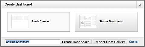 create a custom dashboard