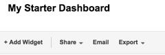 add a widget to your dashboard